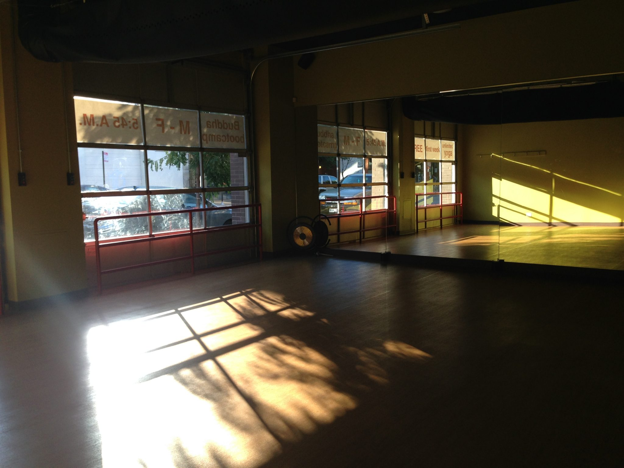 The Large Studio Gives Space Garage In Zen Yoga