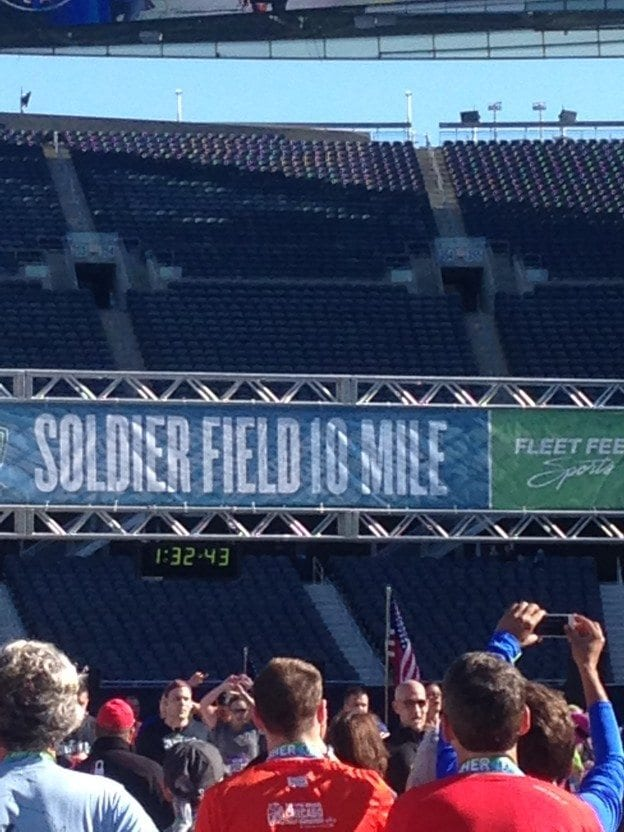 soldier field 10 miler finish line chicago illinois