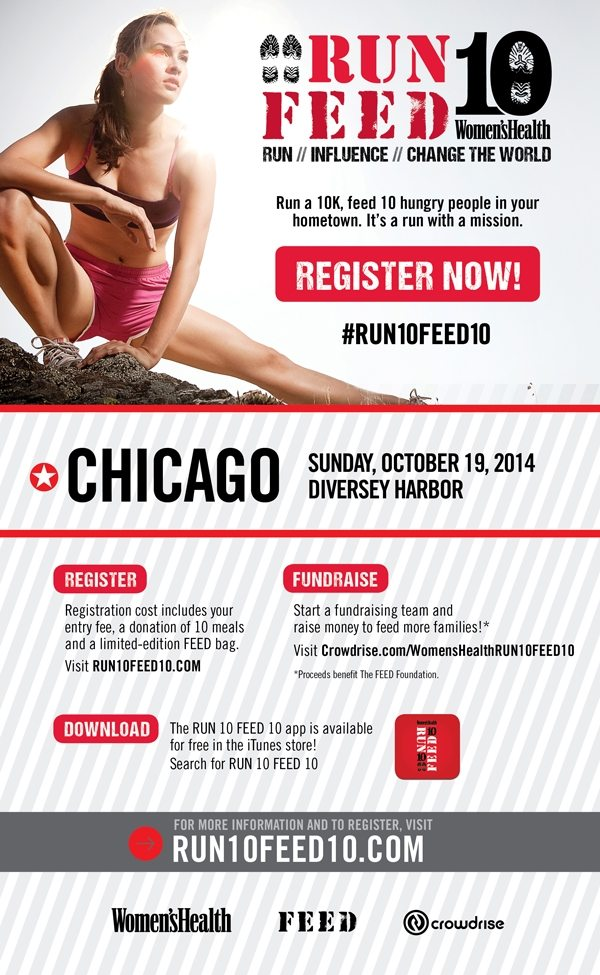 RUN10FEED10 in Chicago asweatlife fabfitchicago charity race in Chicago run in chicago coupon code for a race in chicago