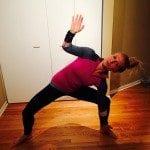 No equipment workout asweatlife fabfitchicago barre pile squat reach
