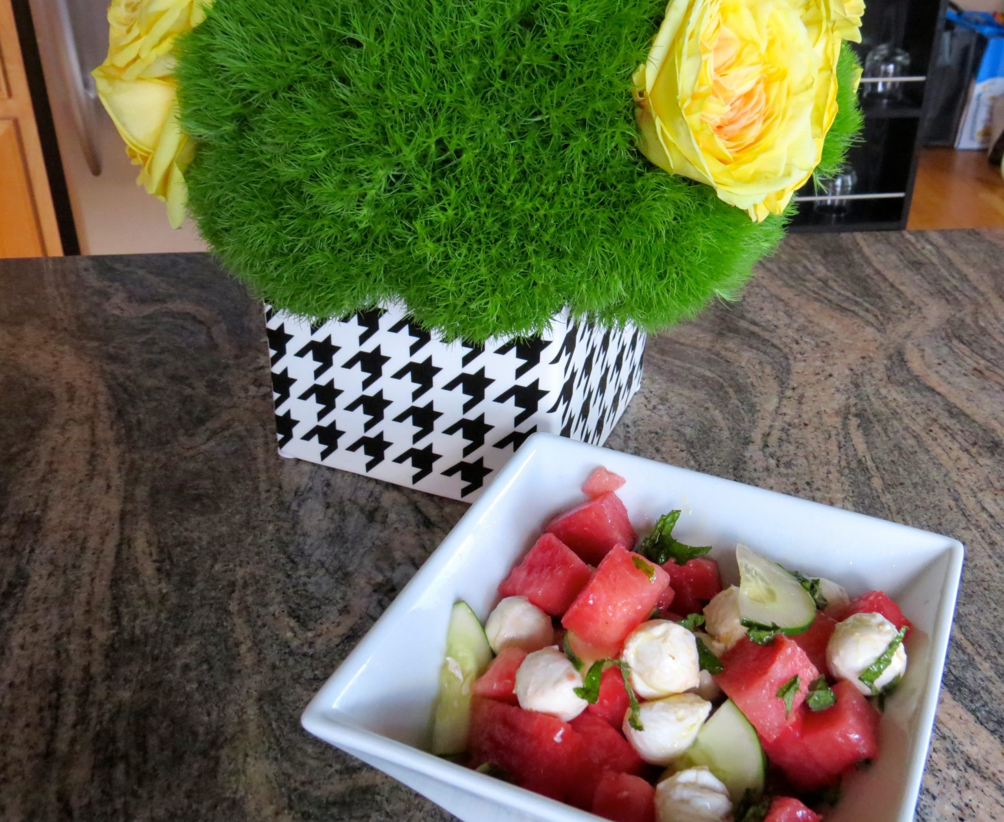 asweatlife recipe fabfitchicago chicago health fitness watermelon cucumber salad