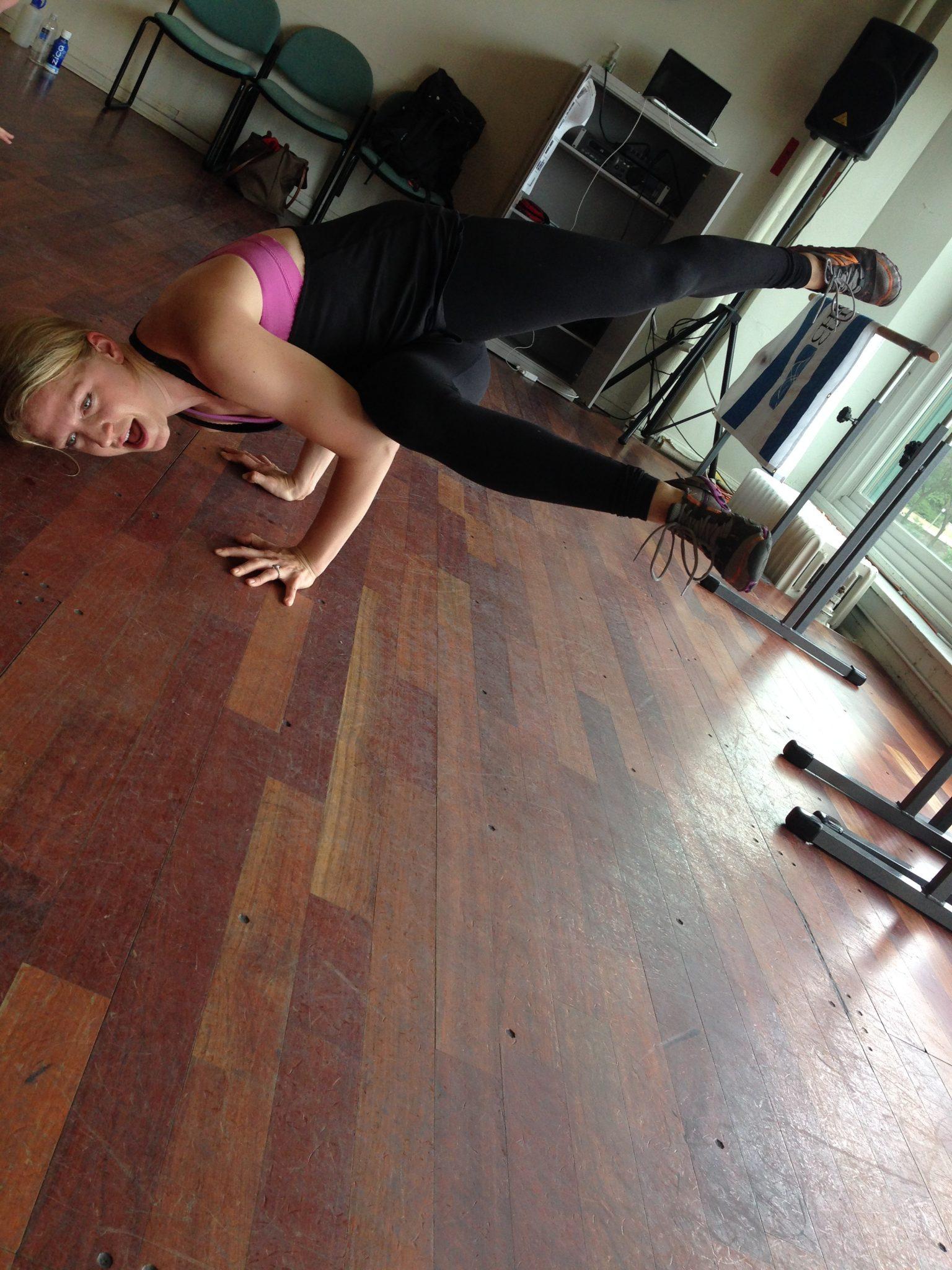 break dancing class in Chicago side freeze asweatlife fabfitchicago