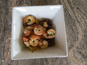 asweatlife fabfitchicago Meal prep shrimp recipe mango salsa
