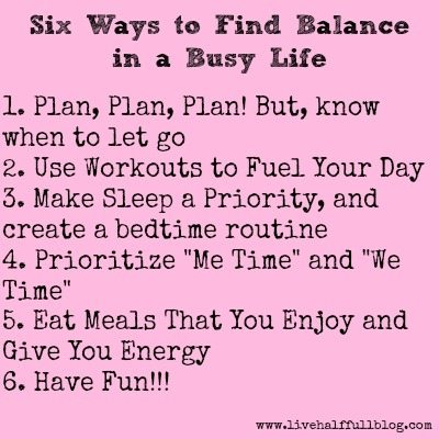 Six Ways to Find Balance in a Busy Life
