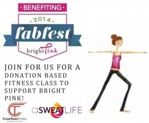 asweatlife fabfitchicago crosstown fitness donation class bright pink