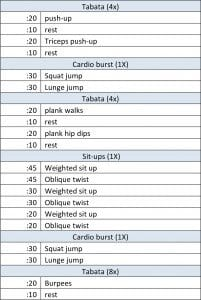 asweatlife bodyweight workout