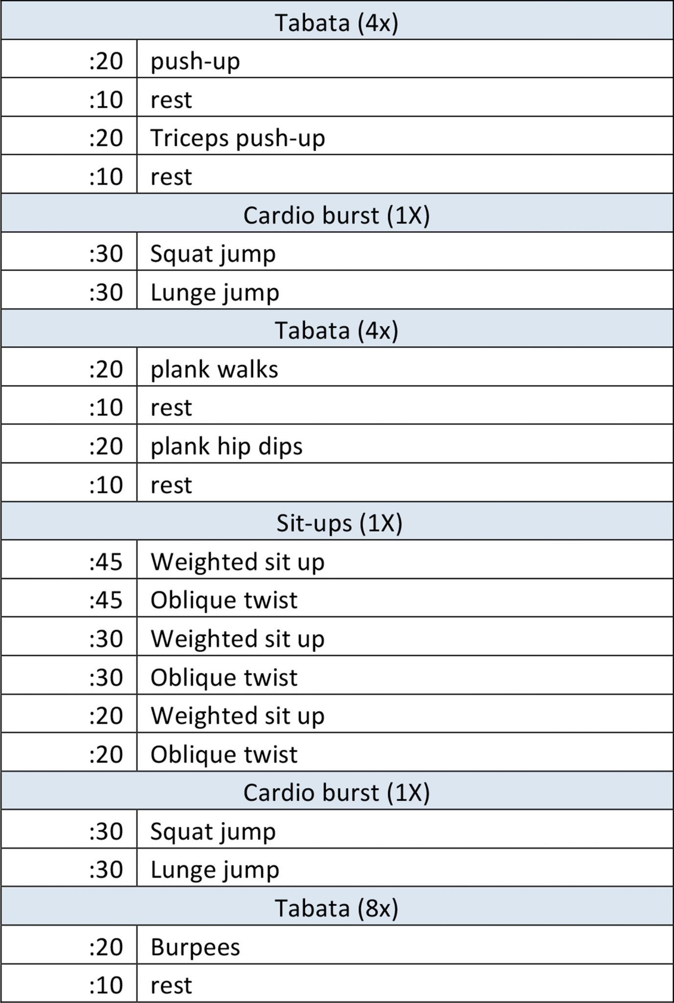 asweatlife bodyweight workout