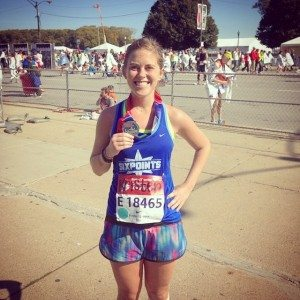 Kristen Geil after her first marathon