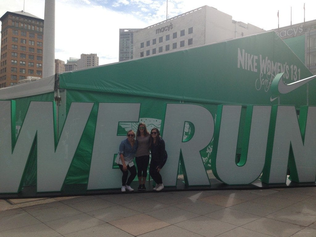 We run SF Nike women's half marathon San Francisco expotique