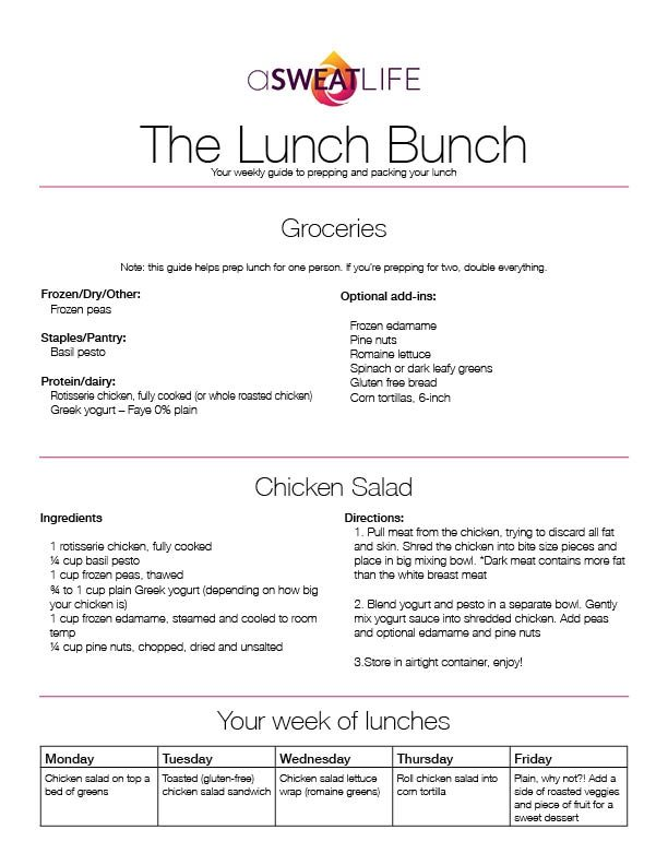 Asweatlife_Lunch Bunch Mayo free chicken salad