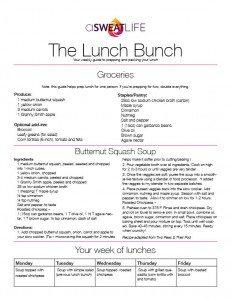 aSweatlife butternut squash soup crockpot recipe fall soup recipe lunch prep lunch bunch