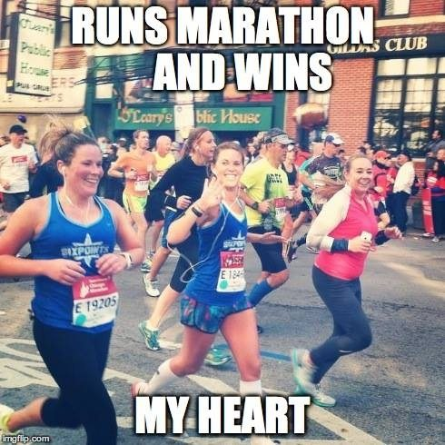 The rare photogenic marathon picture