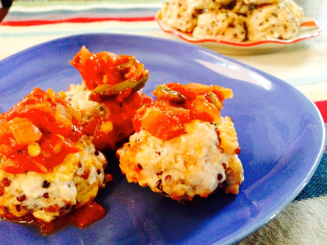 asweatlife_Baked Turkey Quinoa Meatballs_1