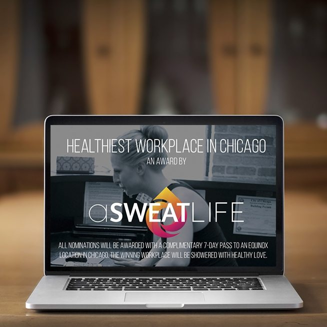 asweatlife Healthiest workplace in Chicago award