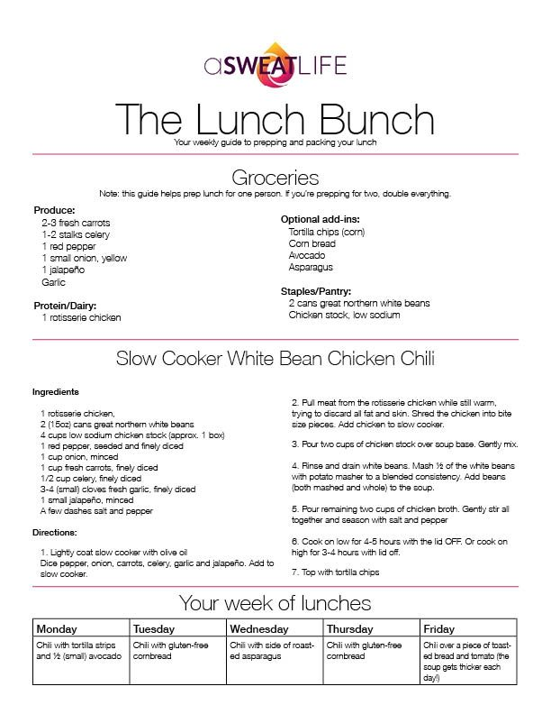 asweatlife_Slow Cooker White Bean Chicken Chili recipe Lunch Bunch
