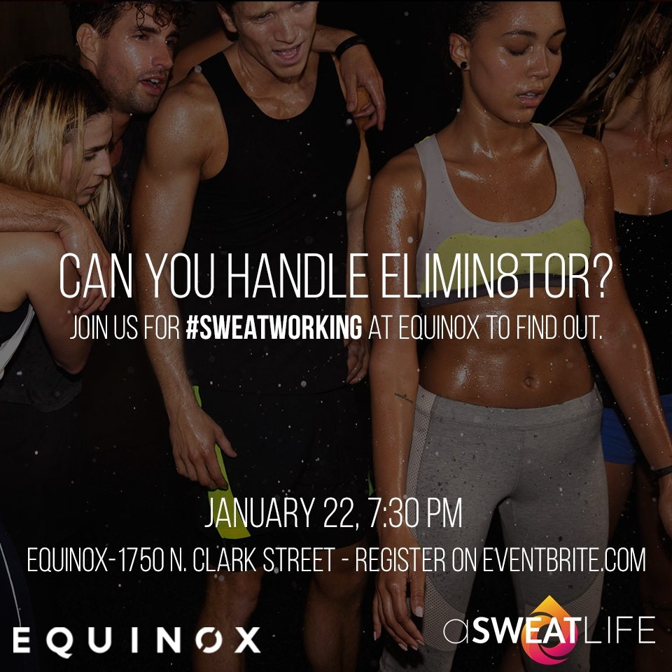 sign up for sweatworking at equinox lincoln park january. Black Bedroom Furniture Sets. Home Design Ideas