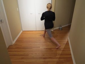 asweatlife lunge taps workout at home