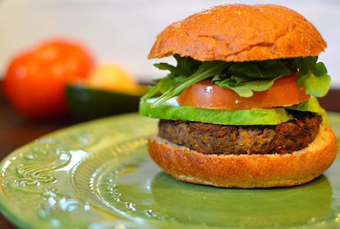 asweatlife_The Lunch Bunch- Black Bean Chia Burger recipe