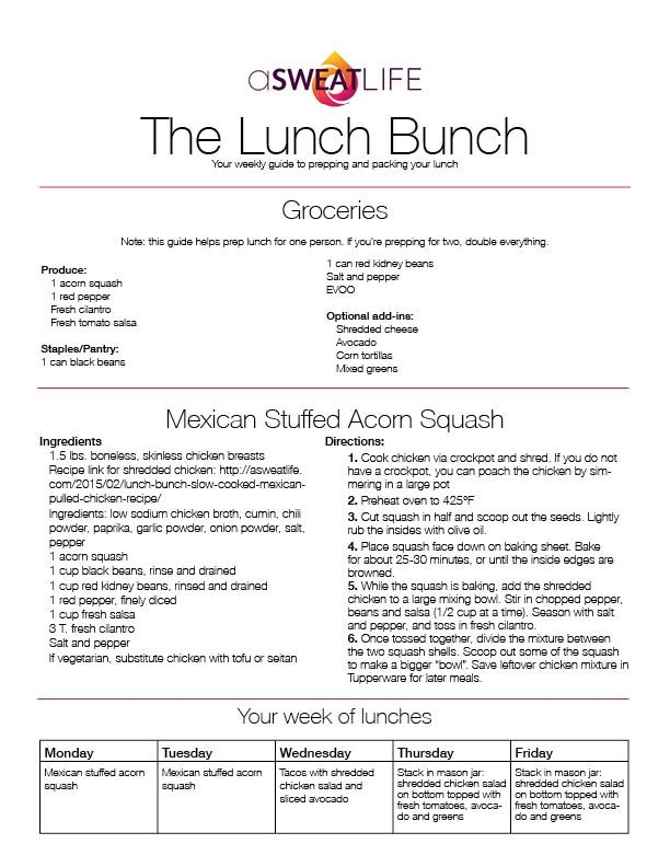 Lunch Bunch_The Lunch Bunch-Mexican Stuffed Acorn Squash Recipe_15 03 04