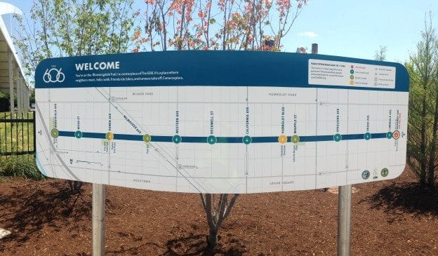 Map of the Bloomingdale Trail