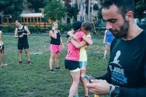 Kristen and Robyn at Nike Run Club Chicago Speed Run