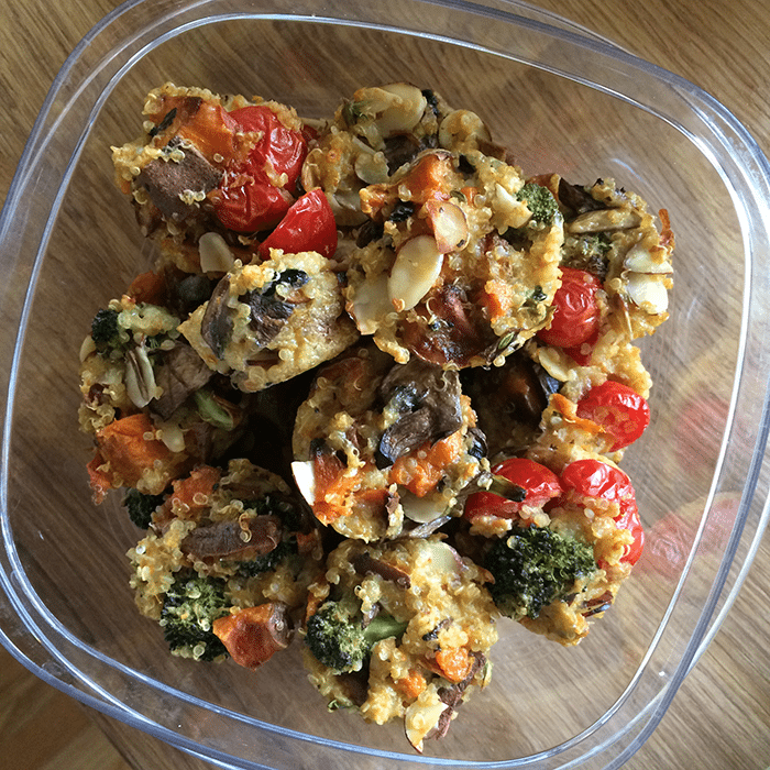 asweatlife_grab-and-go-breakfast-recipes_quinoa-muffins_2