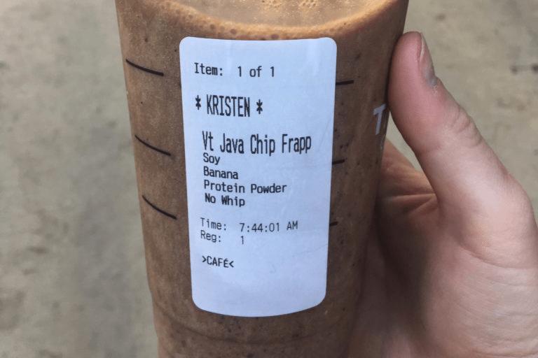 Protein Shake Frappuccino