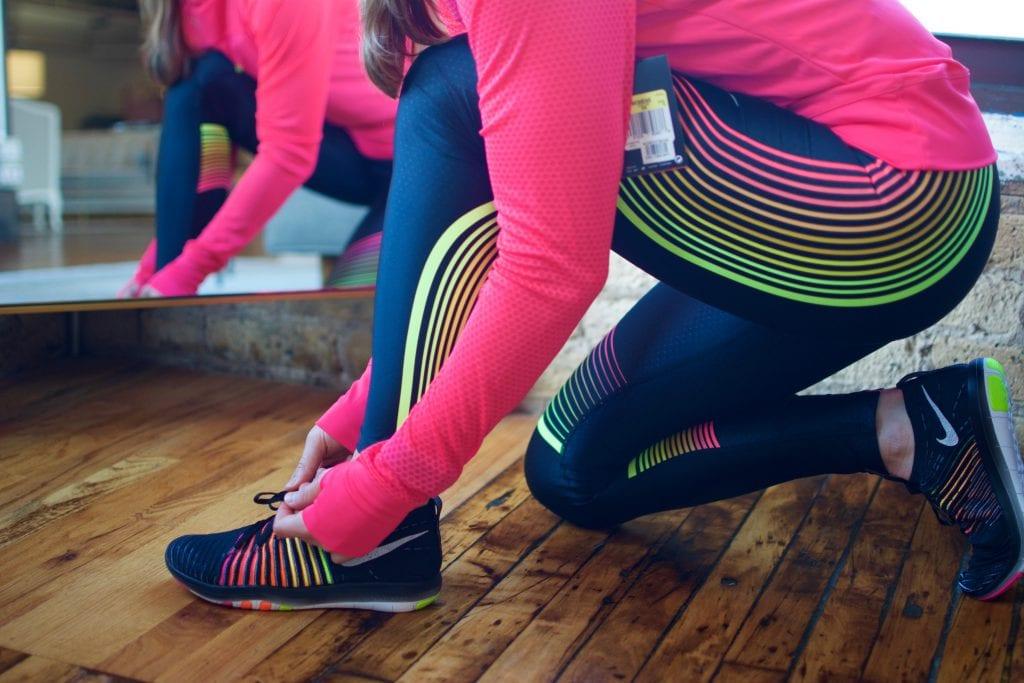 Nike Free Transform Flyknit Training Shoe, Power Speed tights