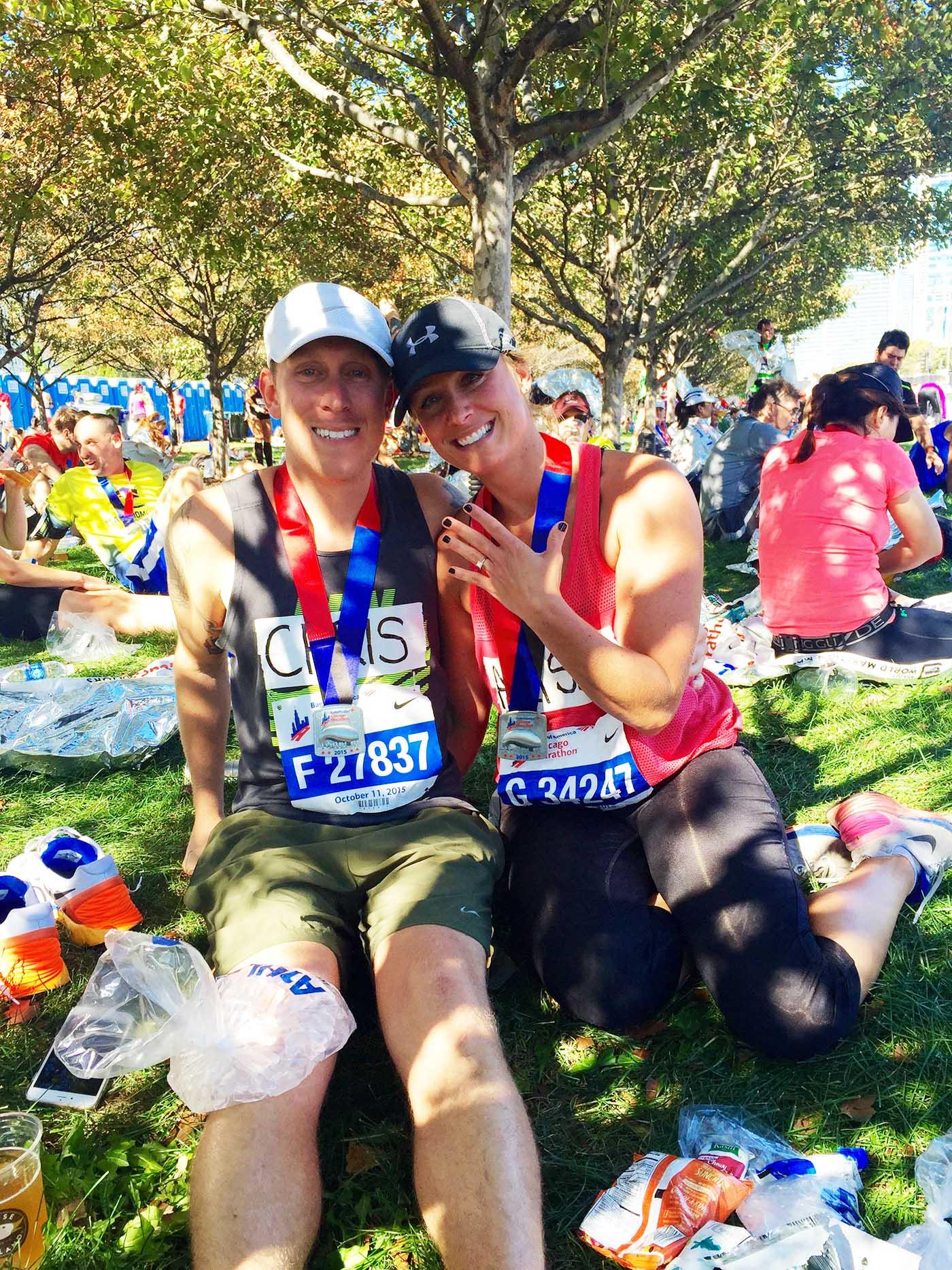 asweatlife_couple-celebrates-2015-chicago-marathon-engagement-at-2016_2015-engagement