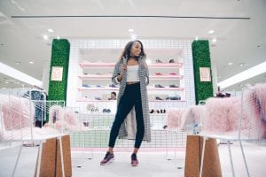 Sanya Richards-Ross Nordstrom x Nike pop up shop Chicago