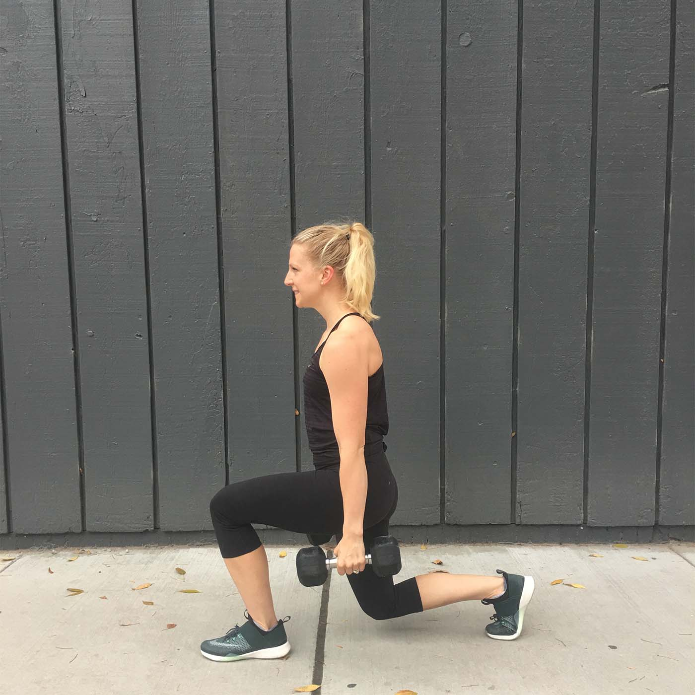 asweatlife_make-your-monday-strong-with-this-30-minute-workout_stationary-lunge-1