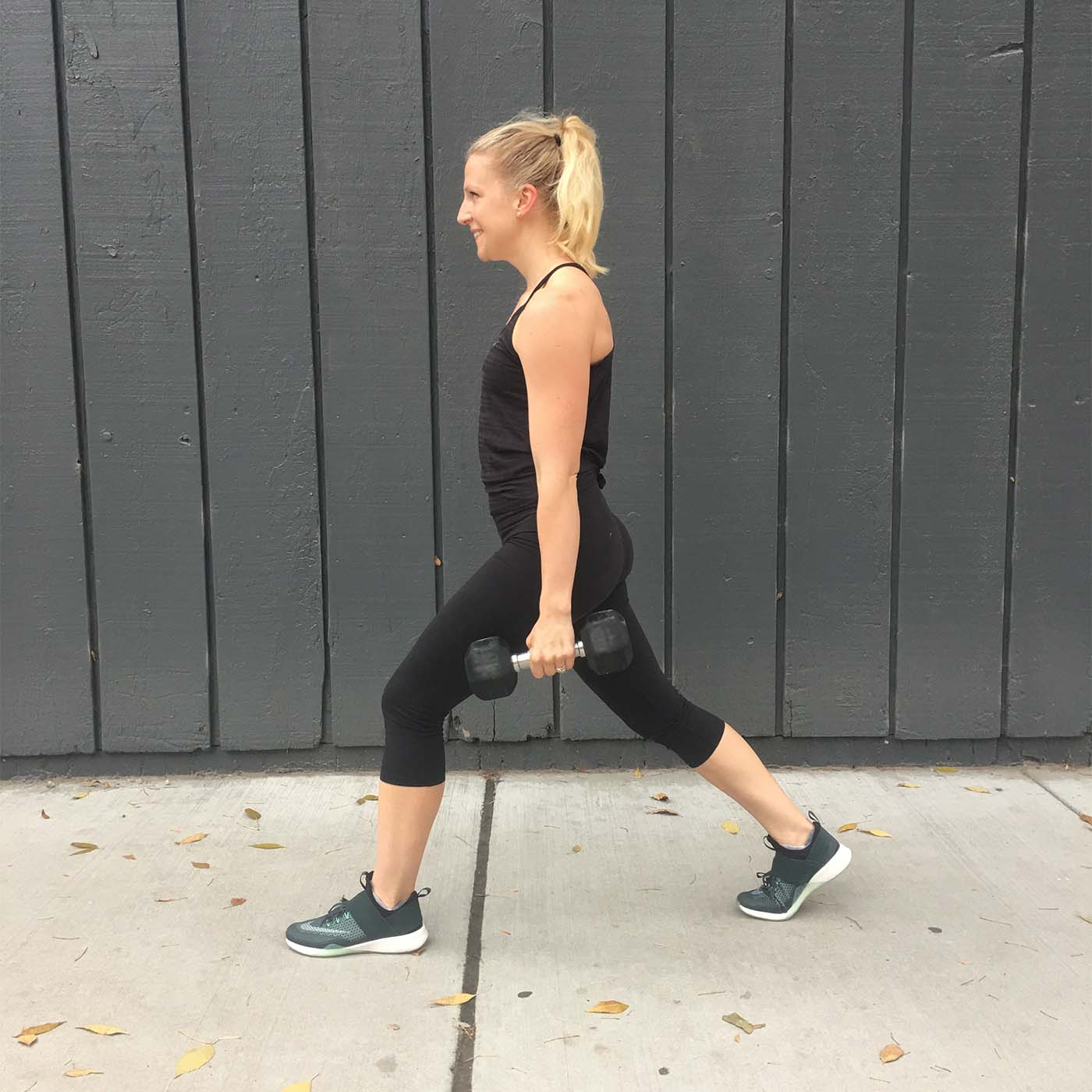 asweatlife_make-your-monday-strong-with-this-30-minute-workout_stationary-lunge-2