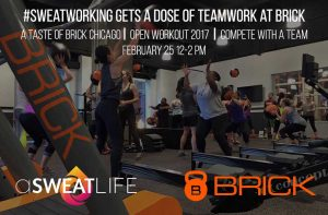 #Sweatworking Gets a Dose of Teamwork at Brick @ BRICK Crossfit Chicago