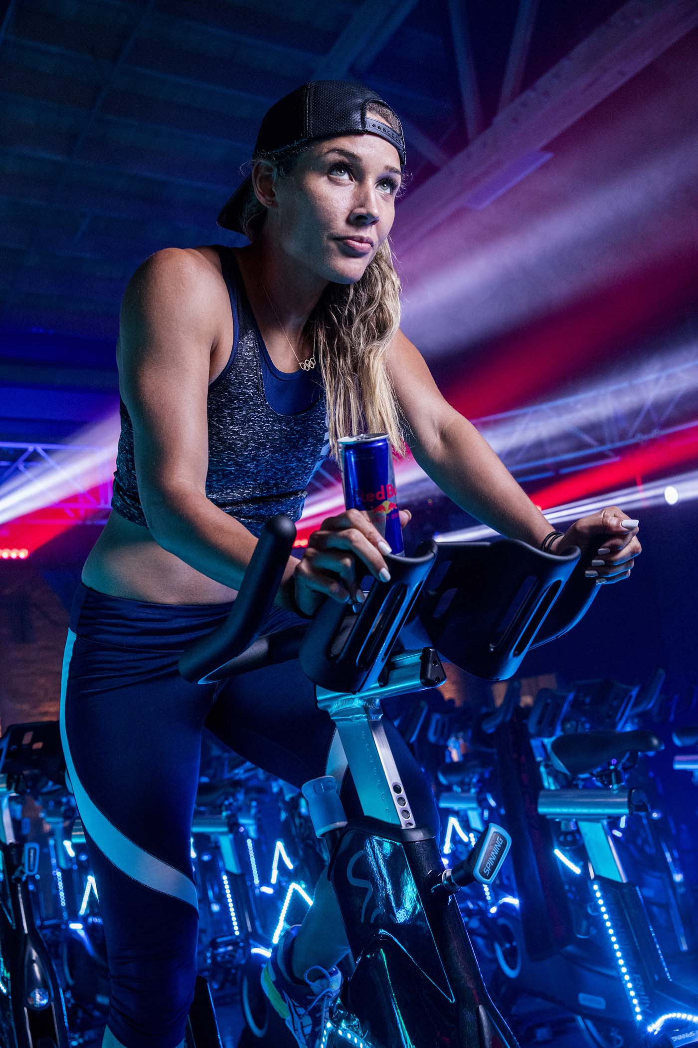 Lolo Jones participates in Red Bull Ready Spin in Chicago on May 24th, 2017.