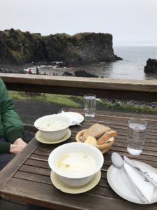 Hikes in Arnarstapi Iceland and soup