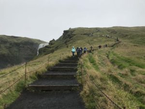 Skógafoss Iceland Hike stairs