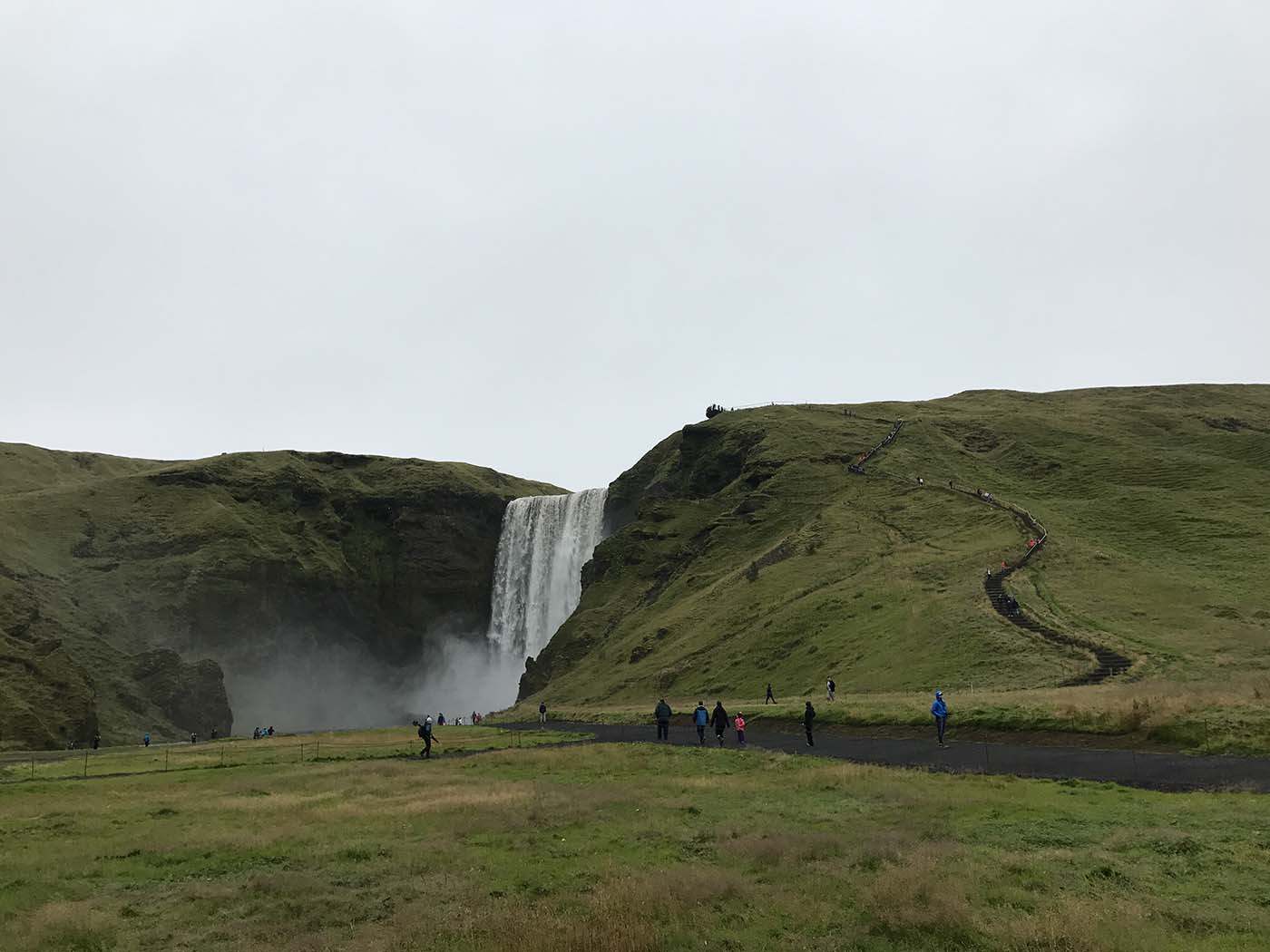 Skógafoss Iceland Hike hillside