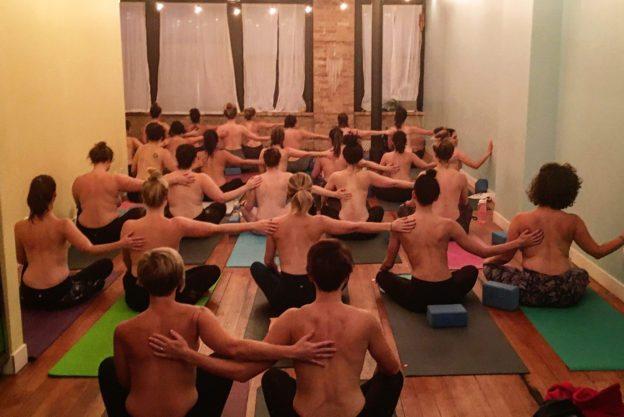 topless yoga