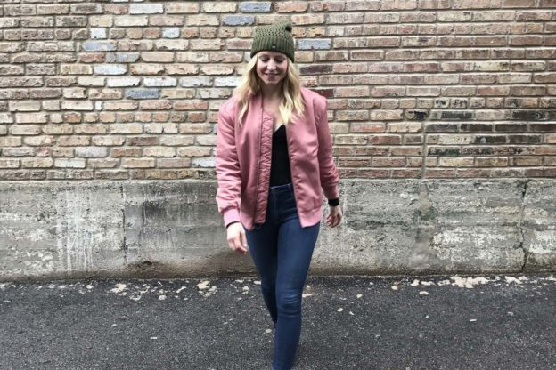 rose-colored athleisure