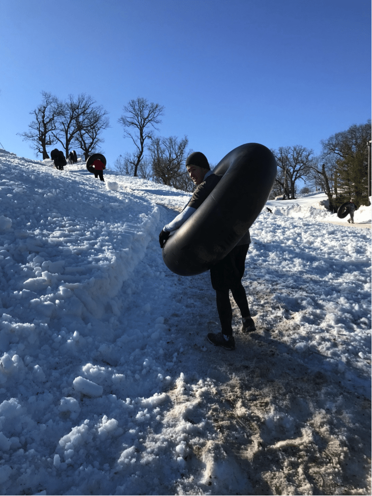 Lake Geneva fit-cation on a budget - tubing