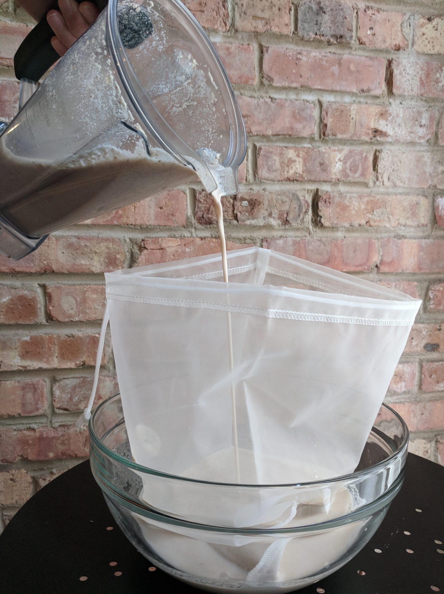 How to strain nut milk when making your own nut milk