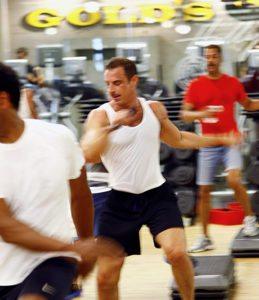 Dr. Eric Swartz teaching group fitness