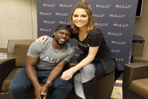 Kevin Hart and Maria Menounos at Rally Healthfest Chicago