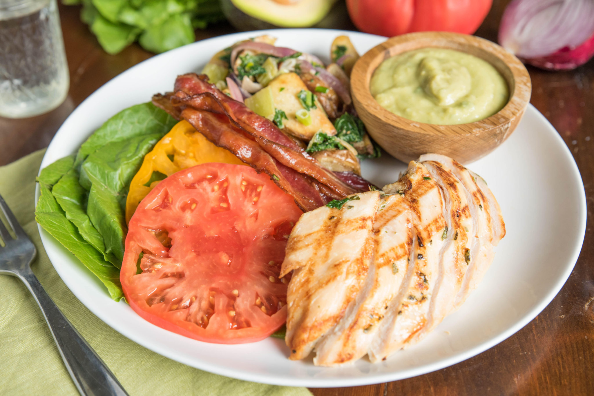 healthy hacks: Grilled BLT (with the heirloom tomato mentioned)