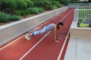 Best friend workout plank