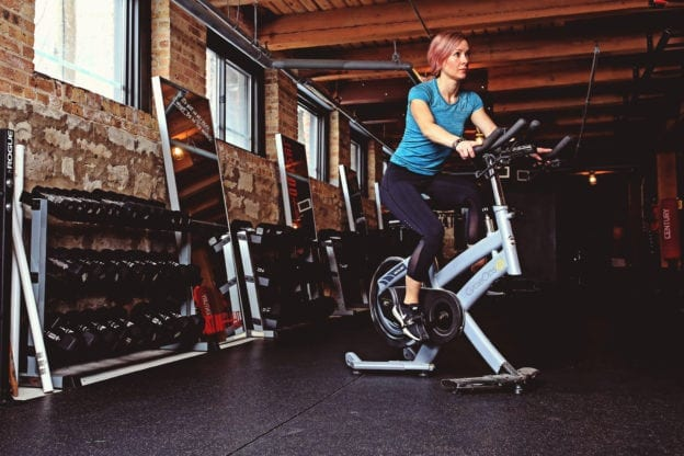 first indoor cycling class