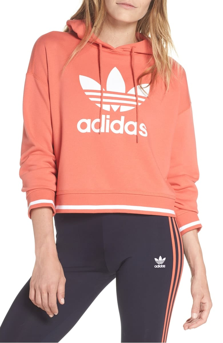 Active Icons Cropped Hoodie