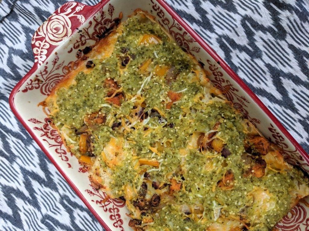 sweet potato enchilada