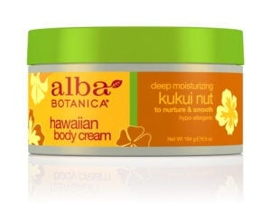 Alba Hawaiian Body Cream Deep Moisturizing Kukui Nut