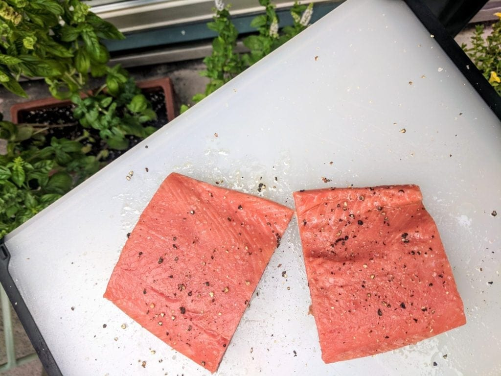 Thrive Market frozen salmon